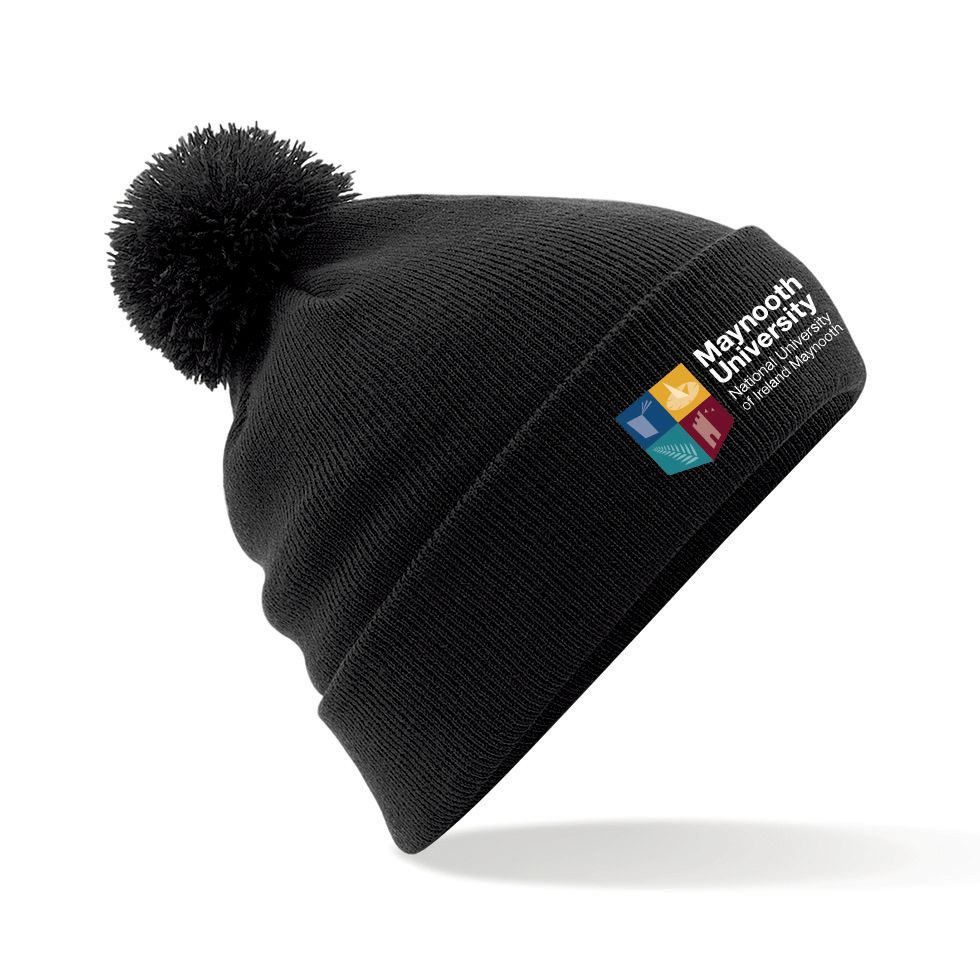 Maynooth University Club Shop Bobble Hat - Black 17c32ac2952